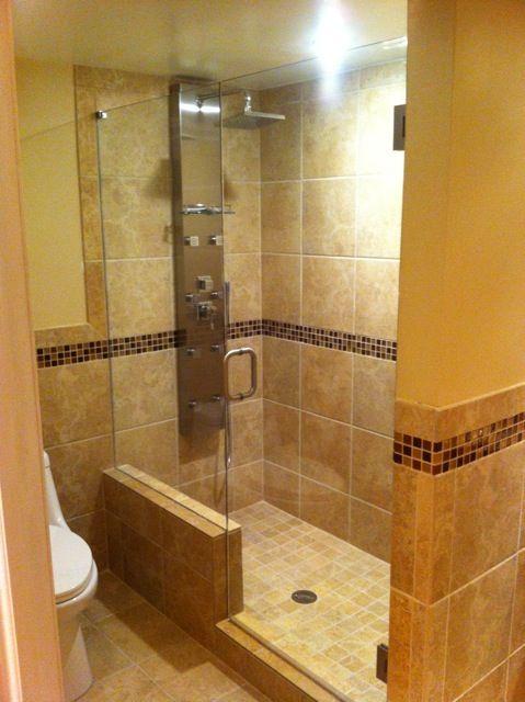 Beautiful Shower Enclosure With Body Sprays Providing A Spa Environment European Frameless Showe Frameless Shower Enclosures Frameless Shower Shower Enclosure
