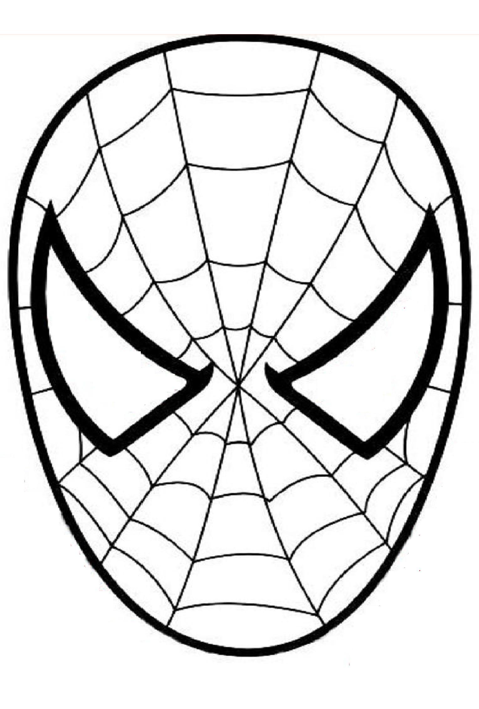 masque spiderman a colorier découpage a imprimer projets à