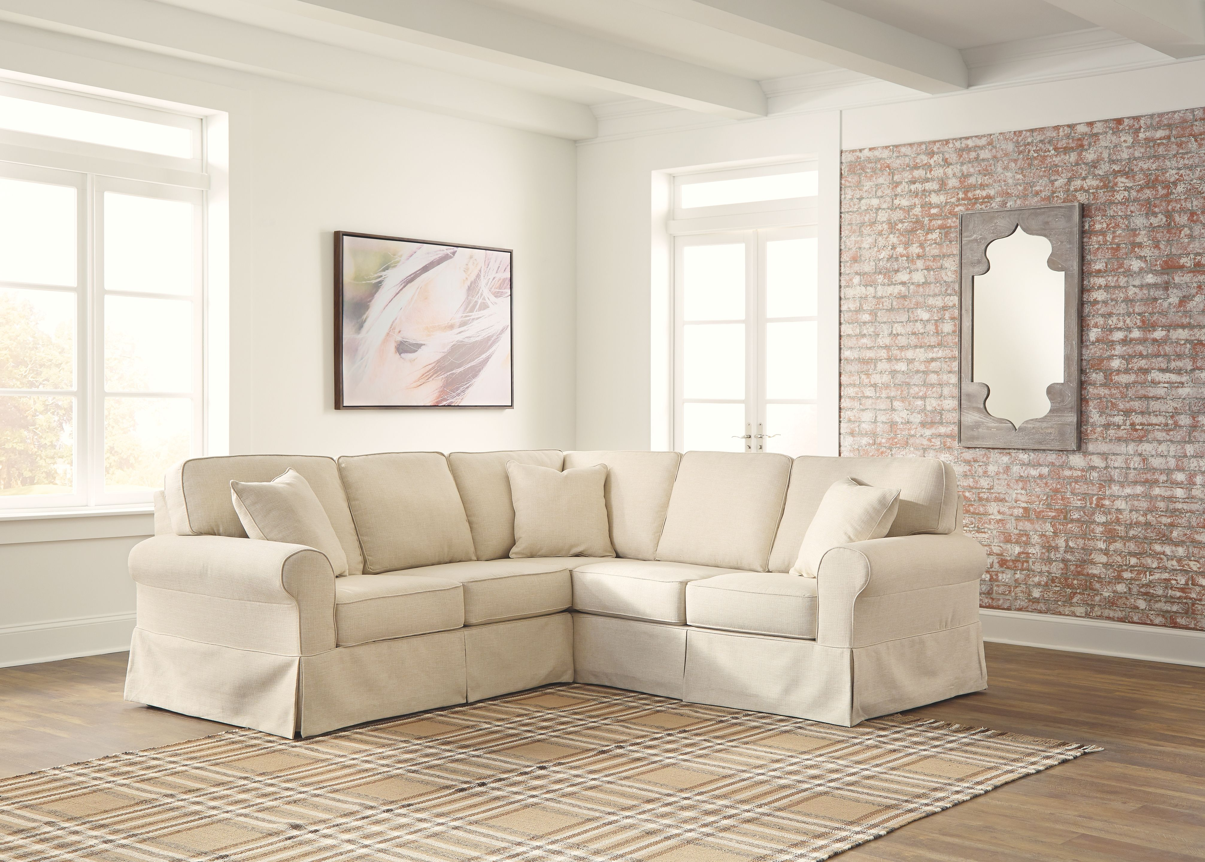Shermyla 2-Piece Sectional, Linen   Products   Sectional ...