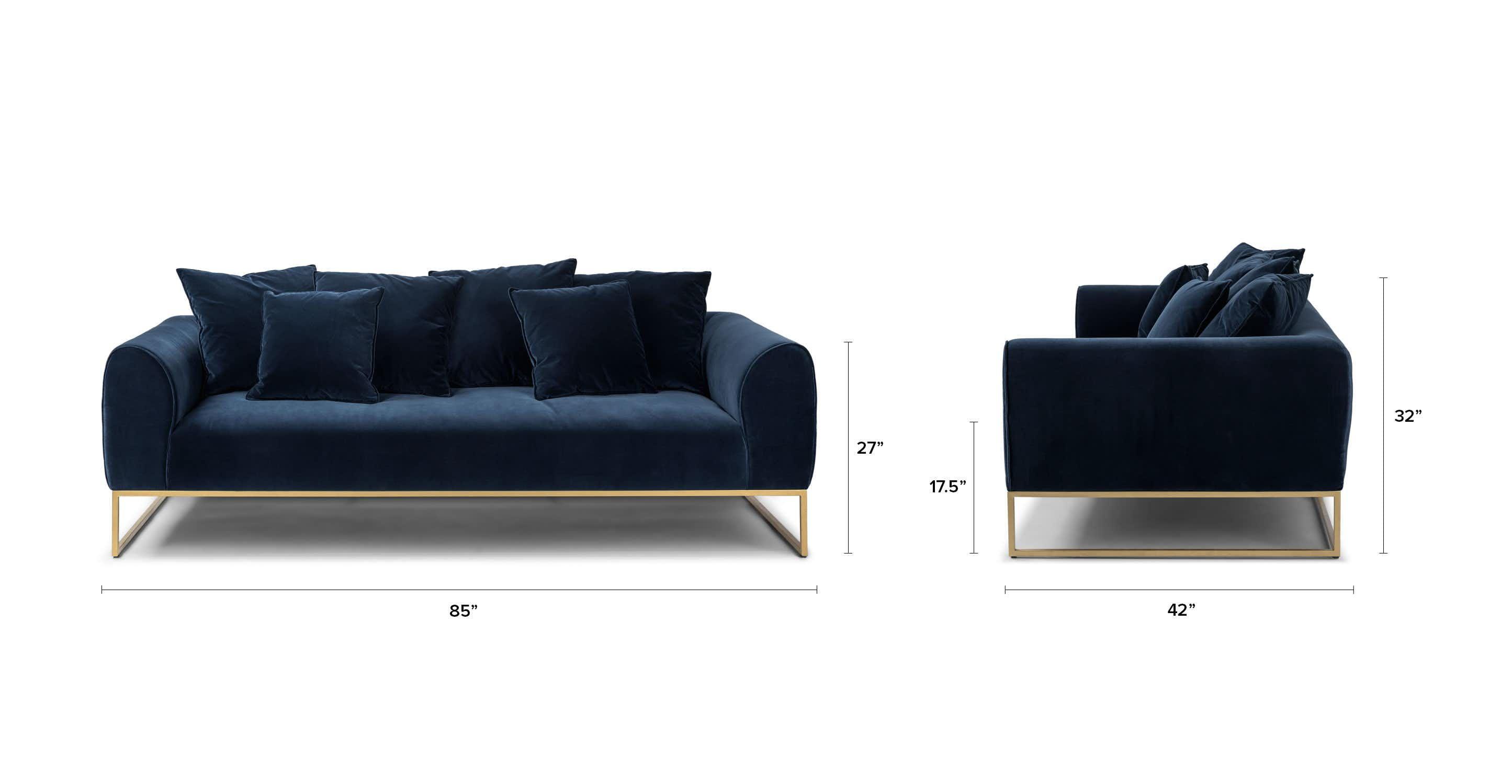Kits Cascadia Blue Sofa | Blue sofa, Green sofa, Modern ... on Cascadia Outdoor Living Spaces id=88265