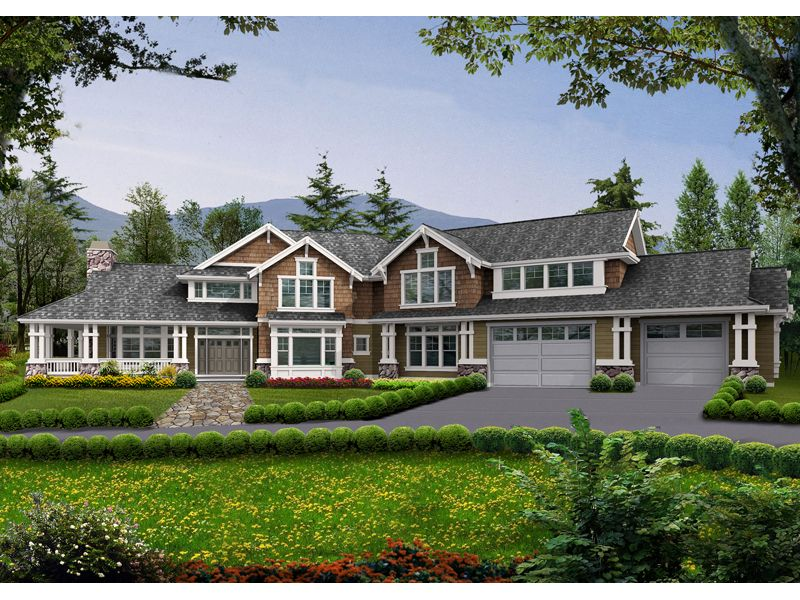Farmhouse plan front of home 071d 0193 from for House plans and more com home plans