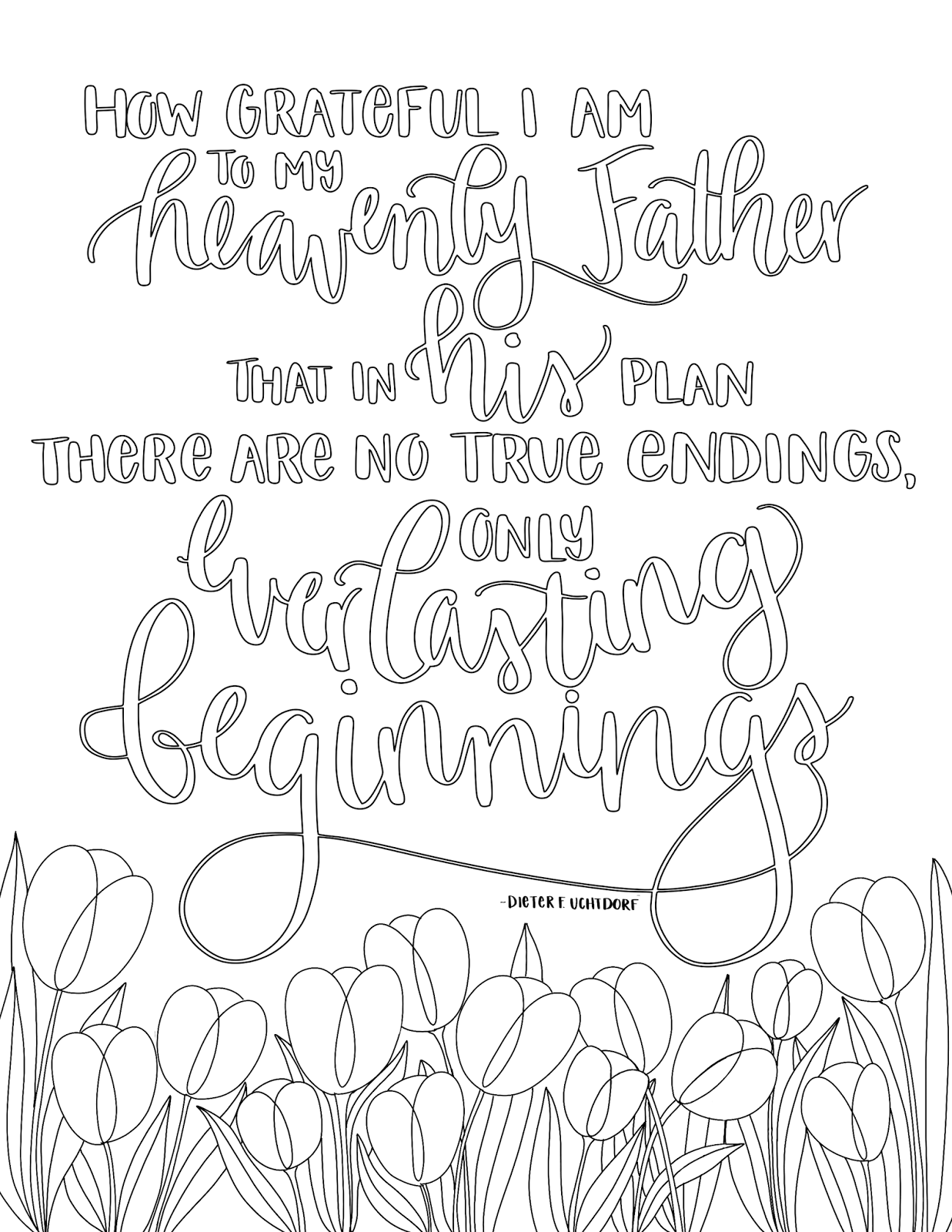 just what i {squeeze} in: Everlasting Beginnings - Free LDS Coloring ...