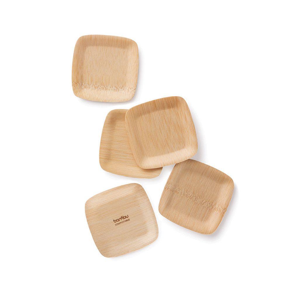 All Occasion Veneerware® Bamboo Tasting Plates $10