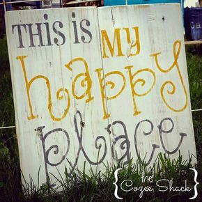 This Is My Happy Place Sign Pallet Sign Wood Sign Wall Etsy Pallet Signs Diy Wood Pallet Signs Happy Place Sign
