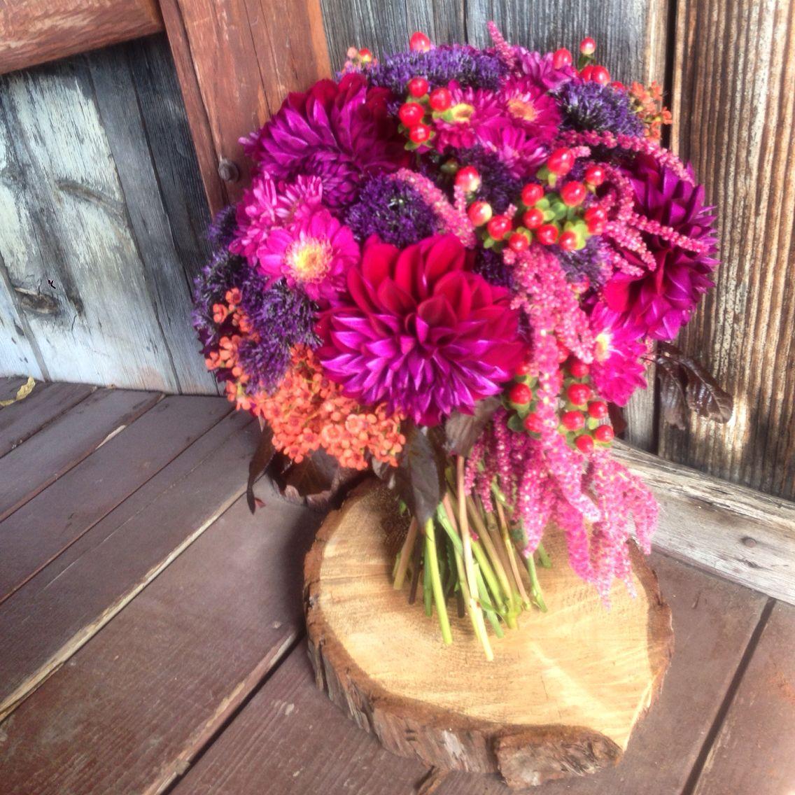 Eggplant wedding bouquet @coarsegoldflowershop