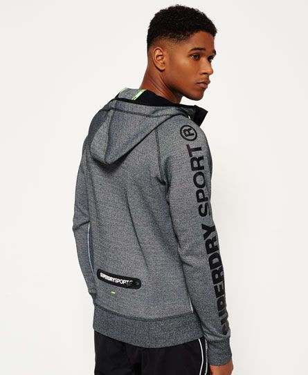 À Gris Look Gym Sweat Capuche Tech Superdry Zippé Sportswear ZpWUqBEA