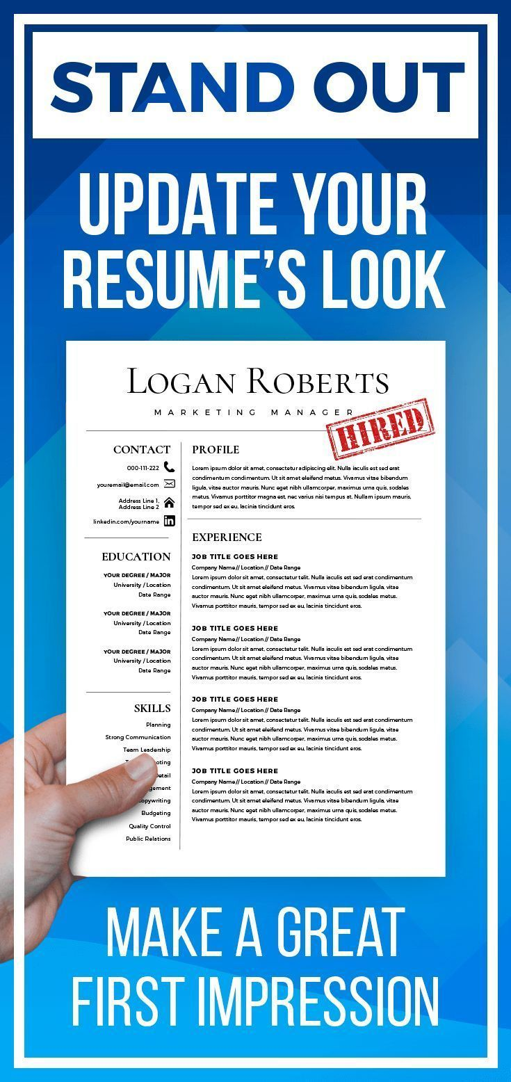 Resume template cv template for word cover letter two