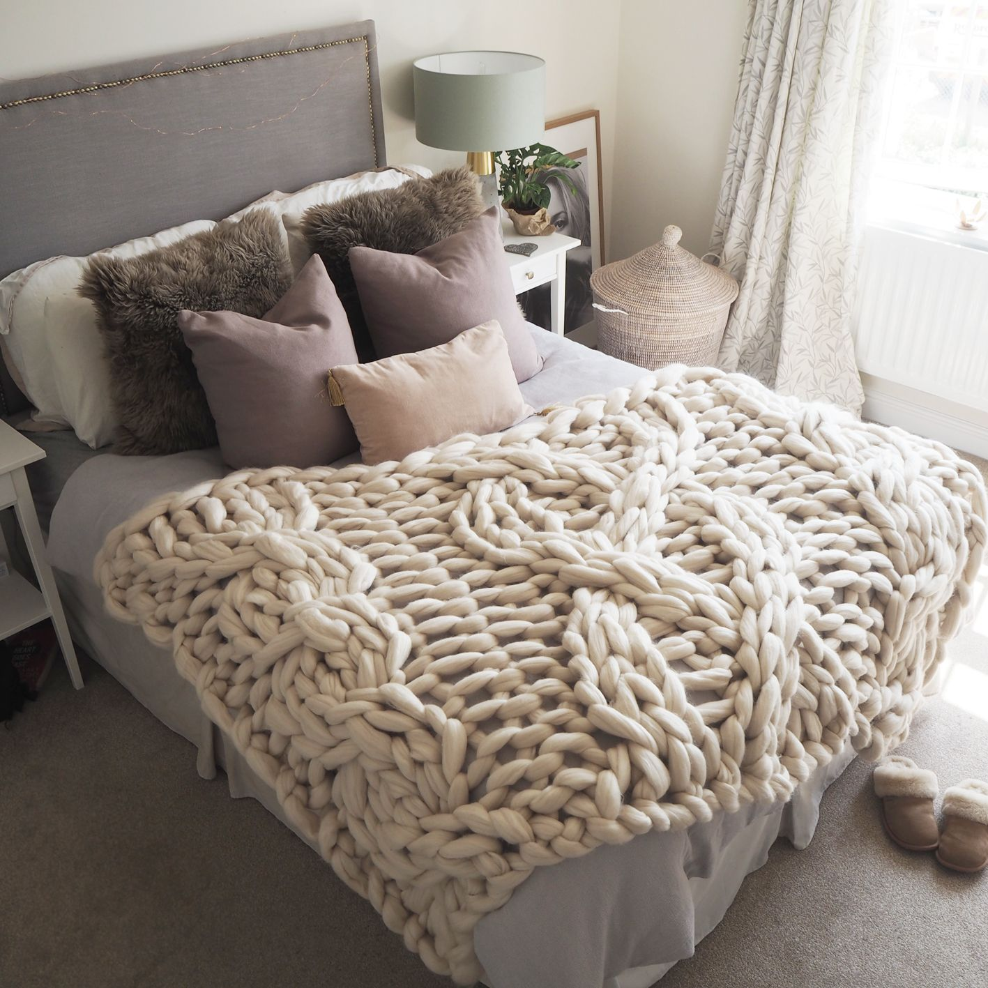 Giant Cable Knit Blanket Blanket Cable Knit Blankets Knitted