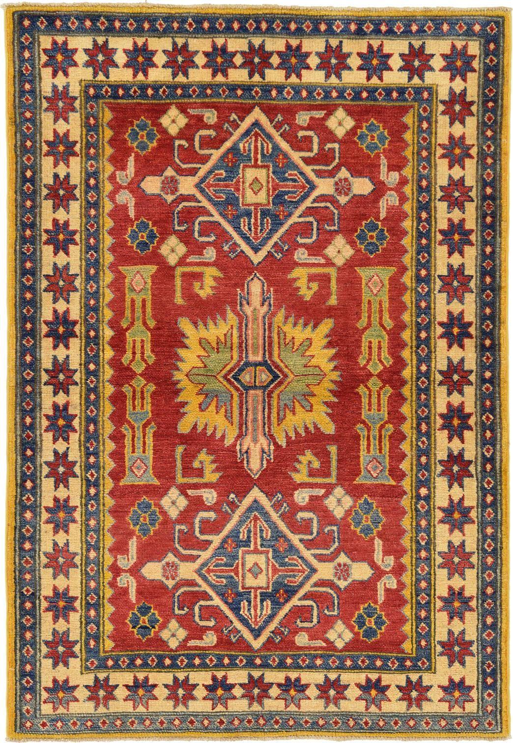 Red 3' 7 x 5' 3 Kazak Oriental Rug | Oriental Rugs | eSaleRugs