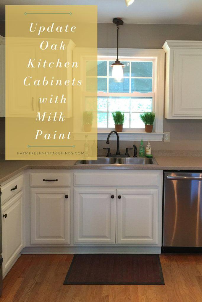 Painted Oak Kitchen Cabinet Reveal - Farm Fresh Vintage ...