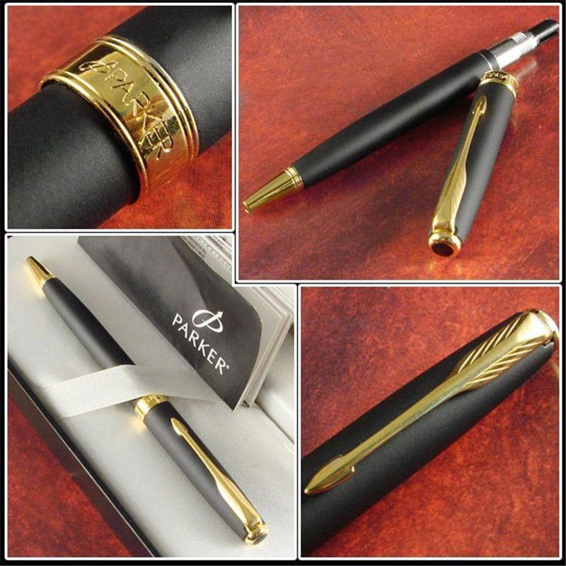 $5.29 (Buy here: https://alitems.com/g/1e8d114494ebda23ff8b16525dc3e8/?i=5&ulp=https%3A%2F%2Fwww.aliexpress.com%2Fitem%2FFree-Shipping-Good-Quality-Ballpoint-Pen-Matte-Black-Caneta-Parker-Sonnet-Pen-Brand-Roller-Ball-Pen%2F32337267671.html ) 1pc/lot Parker Pen Ballpoint Matte Black Pen Gold Clip Ball Pen Caneta Kawaii Material Escolar Office Supplies 13.8*1.3cm for just $5.29