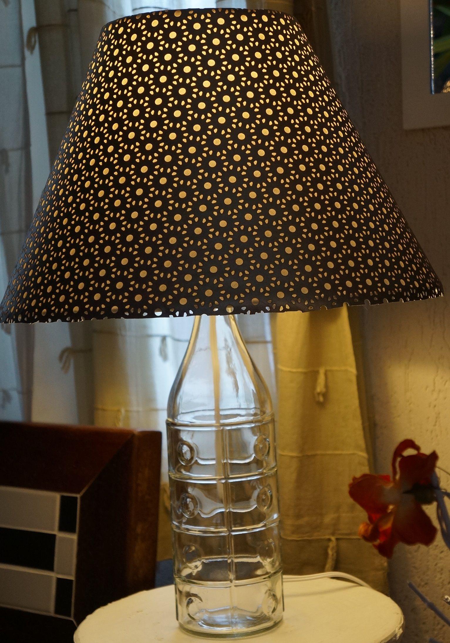 Abajur Garrafa Transparente R 139 00 Moda Arte Decora O E  -> Abajour Para Sala De Tv