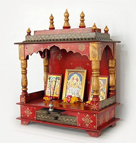 20bfc1c64 Handpainted wooden Home temple, Rajasthani Art: Amazon.in: Home & Kitchen