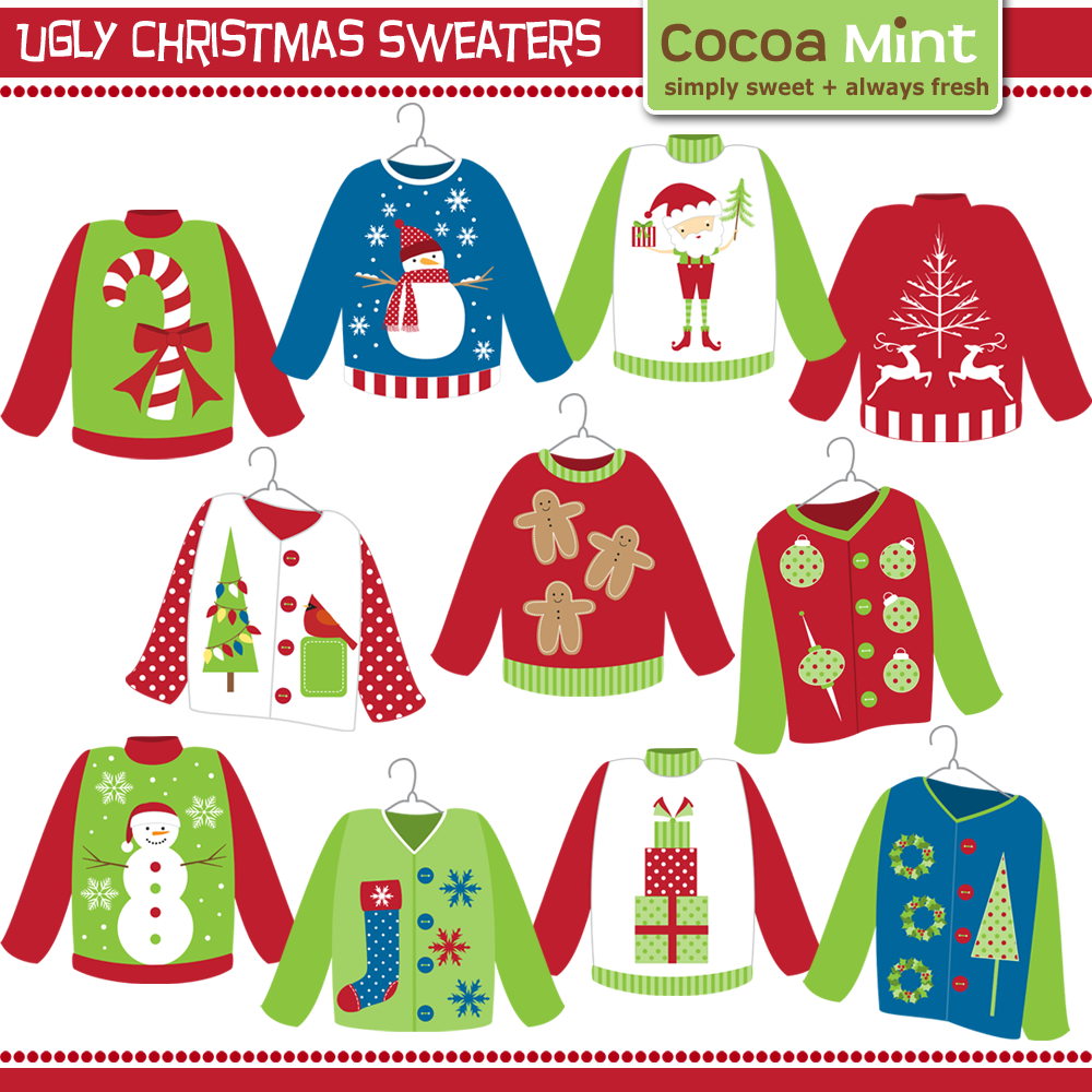 Christmas Sweater Clipart.Pin On Redneck Ugly Sweater Party Ideas