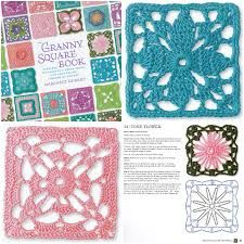 pink rose crochet granny square - Google Search