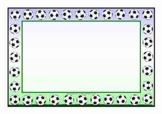 Football A4 page borders - SparkleBox | Voetbal knutselen | Pinterest