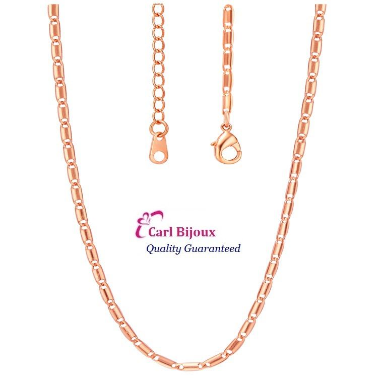 925 Sterling Silver Chain Nickel Free Chain Necklace Italy 45cm+5cm 1.8mm 3.03g Wide Rose Gold on AliExpress.com. $3.20