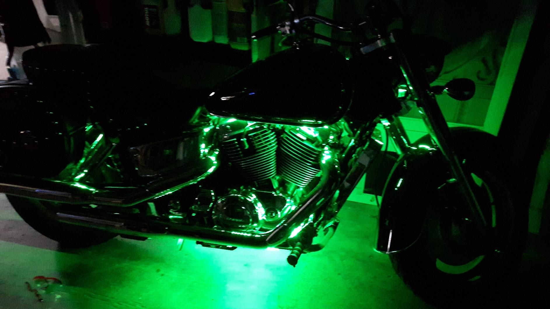 Beautiful green led strip lights on a harley motorcycle from sunpie beautiful green led strip lights on a harley motorcycle from sunpie aloadofball Choice Image
