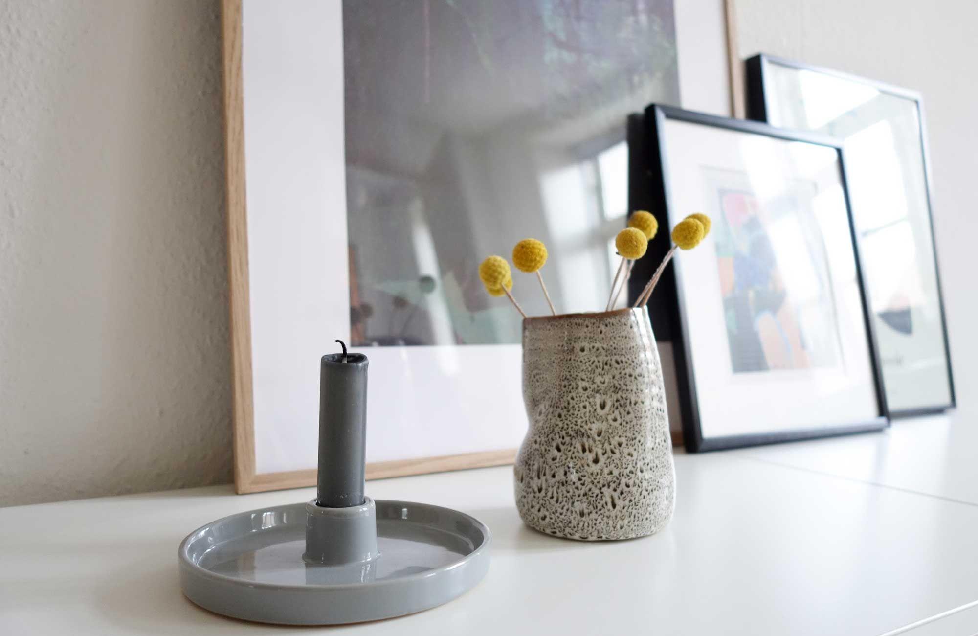 Sostrene Grene candlelight holder and ceramic vase by detydre.dk #grenehome
