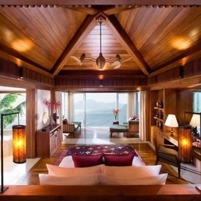 High wood ceilings .. Love