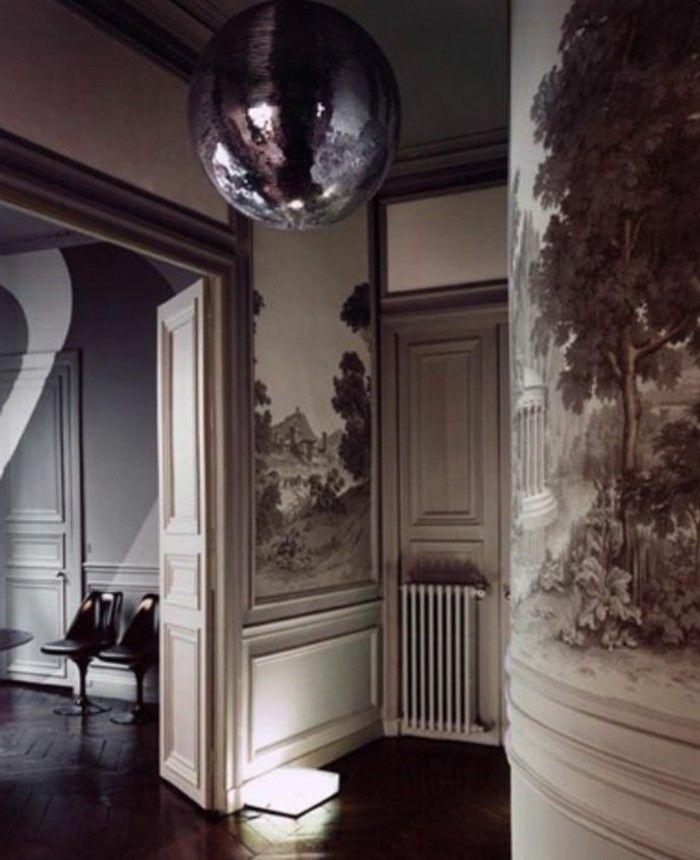 tapete ideen für flur bilder in schwarz weiß Entrée et Couloir - wohnideen tapeten ideen