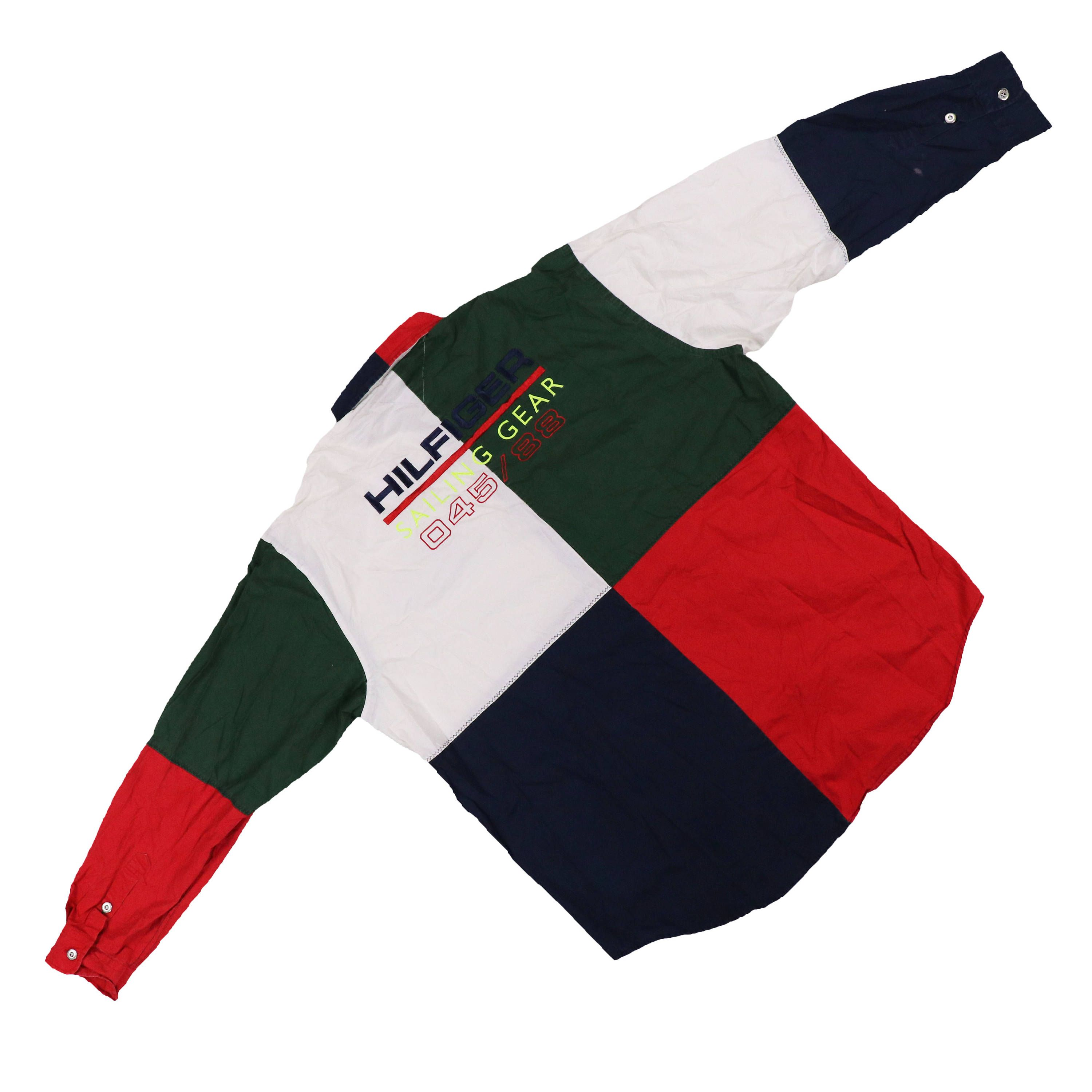 5ab87d78b Vintage 90s Tommy Hilfiger Sailing Gear Color block Shirt by HITZSHOP on  Etsy