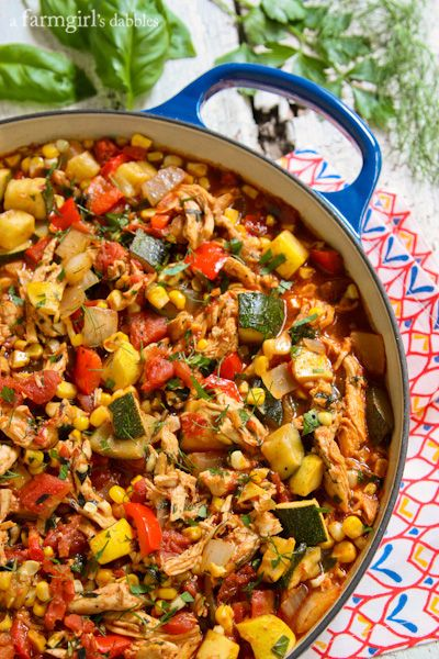 End of Summer Chicken Chili #chilirecipe