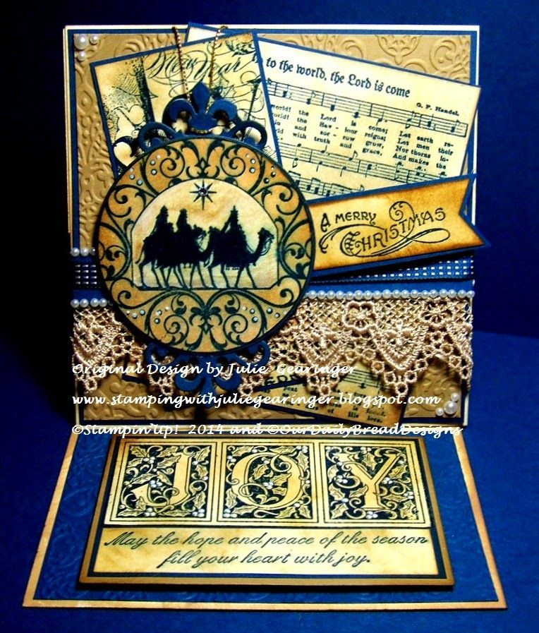 Stamping With Julie Gearinger: Joy To The World- A Vintage