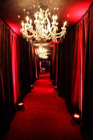 The main hallway of the Midtown West concert hall venue was redesigned with red carpet running the entire length of... #redaesthetic