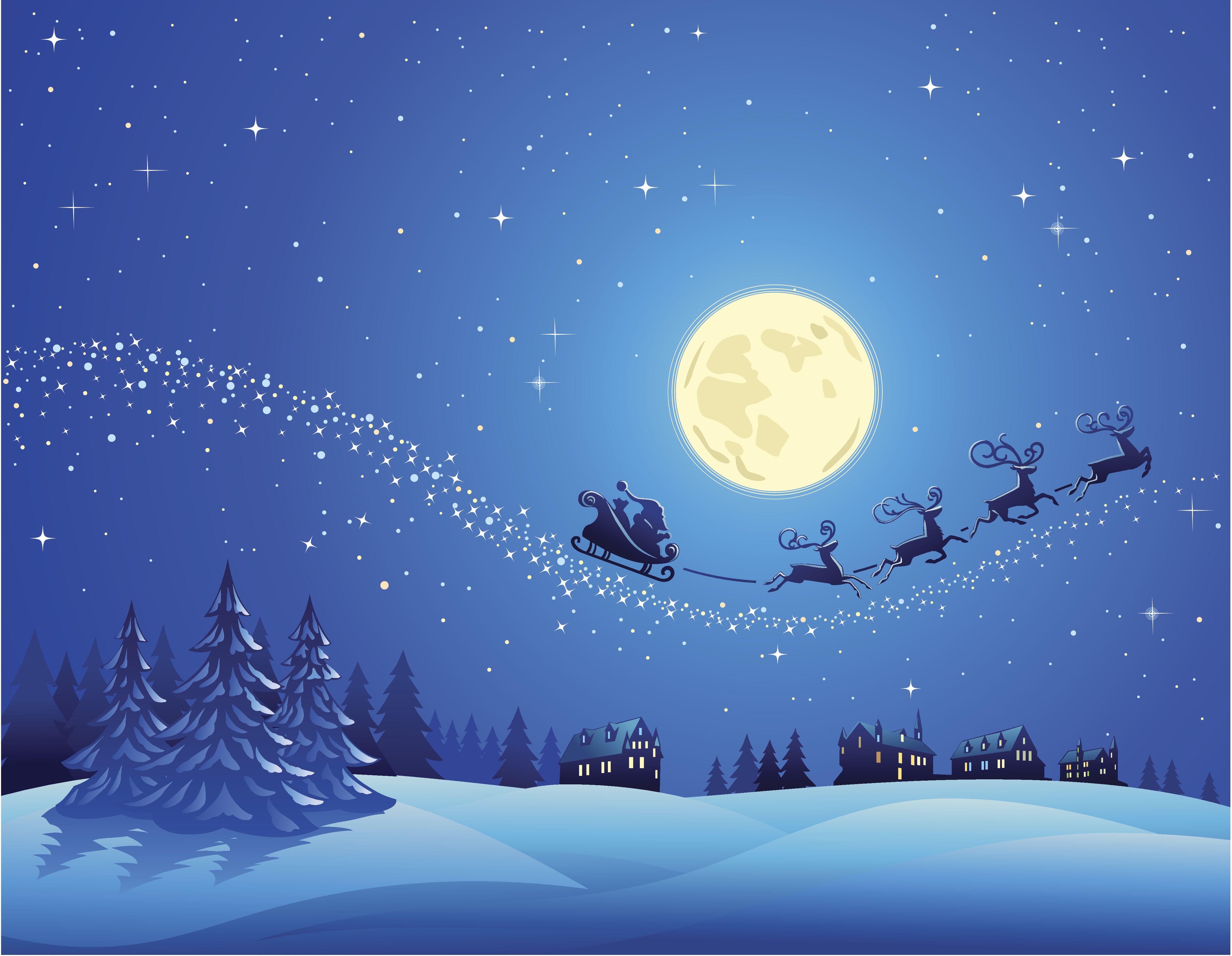 santa sky snow wallpaper - photo #35