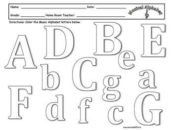 25+ Musical alphabet worksheet Online
