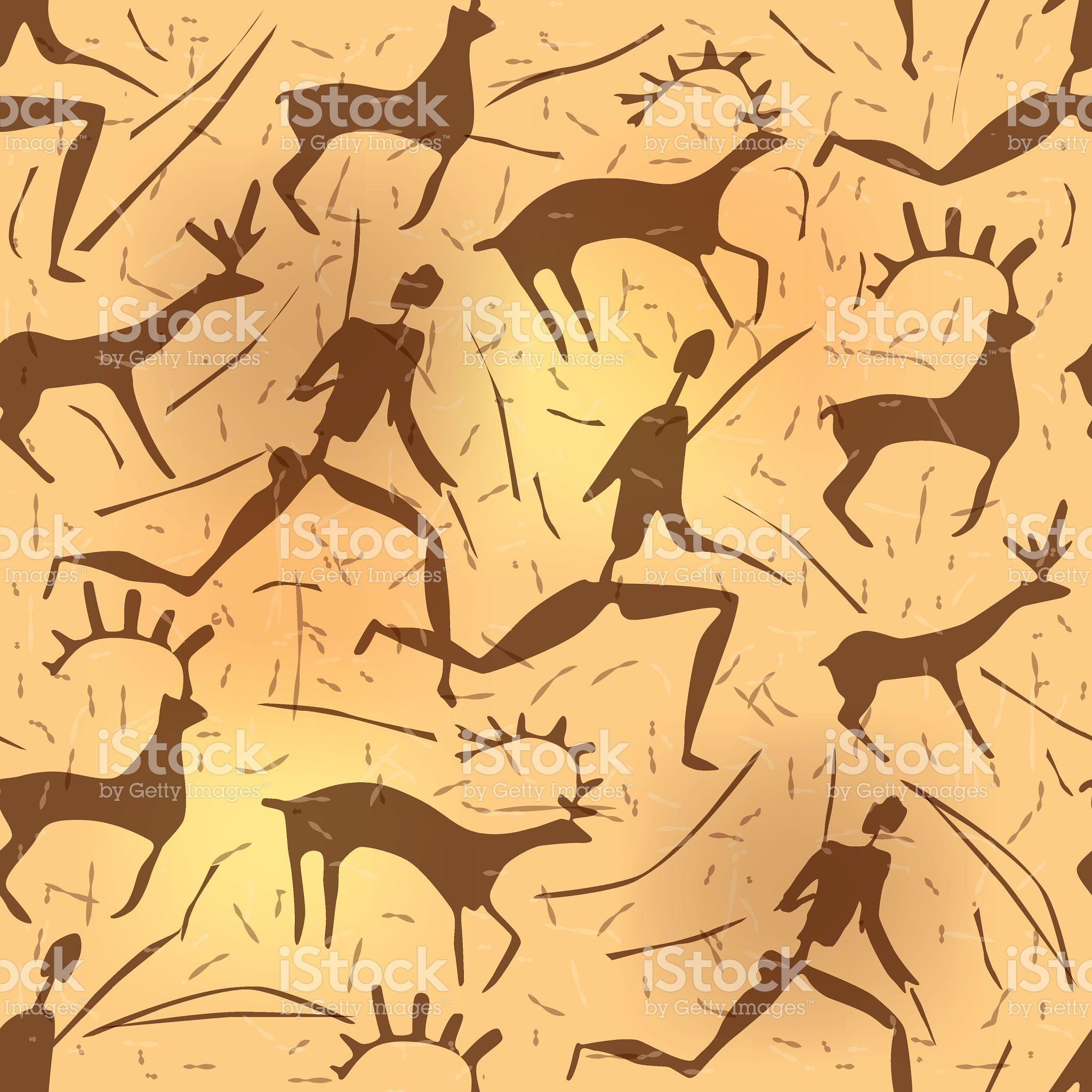 원활한 장식 중유럽식 petroglyphic 예술직 늙음 royalty-free 일러스트