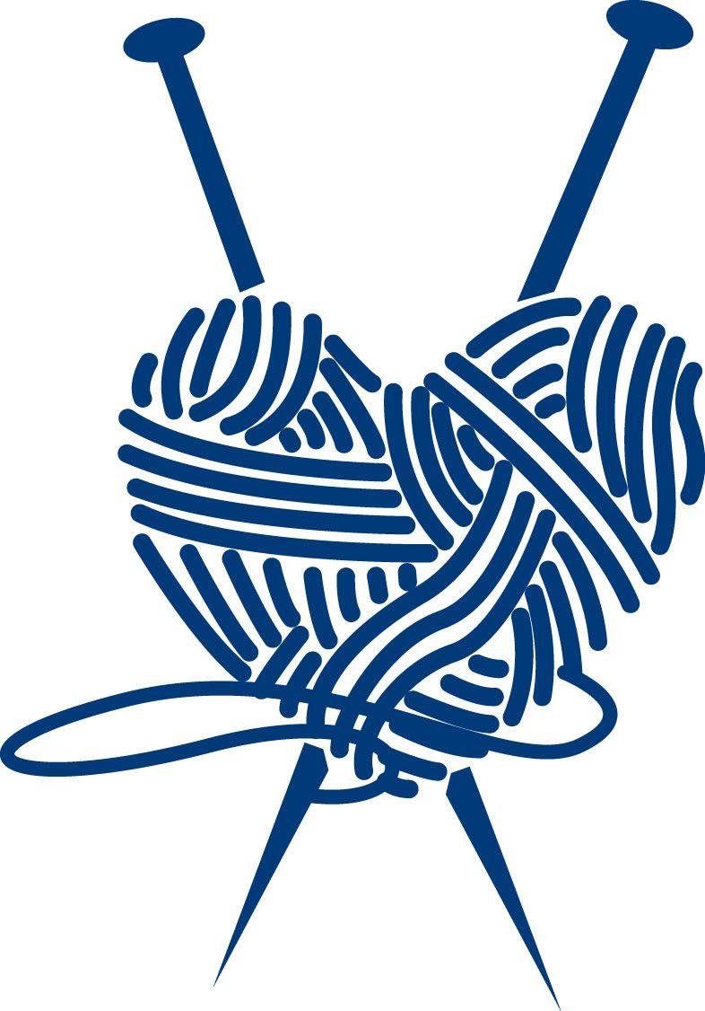 Knitting Heart Vinyl Decal - Love of Knitting A detailed ...