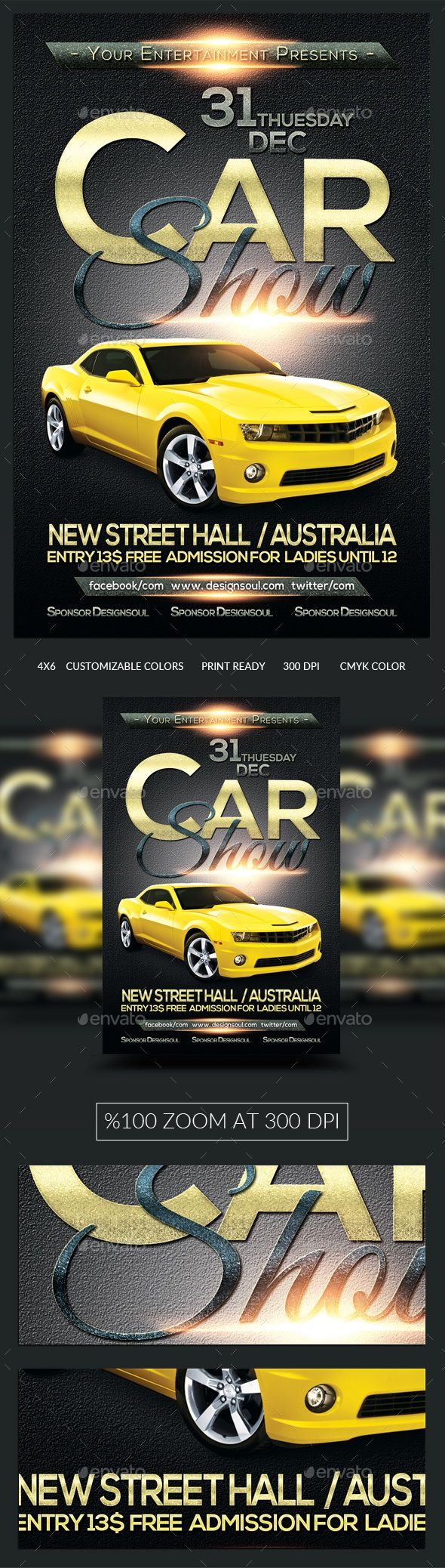 Car Show Flyer Template Psd Design Download HttpGraphicriver