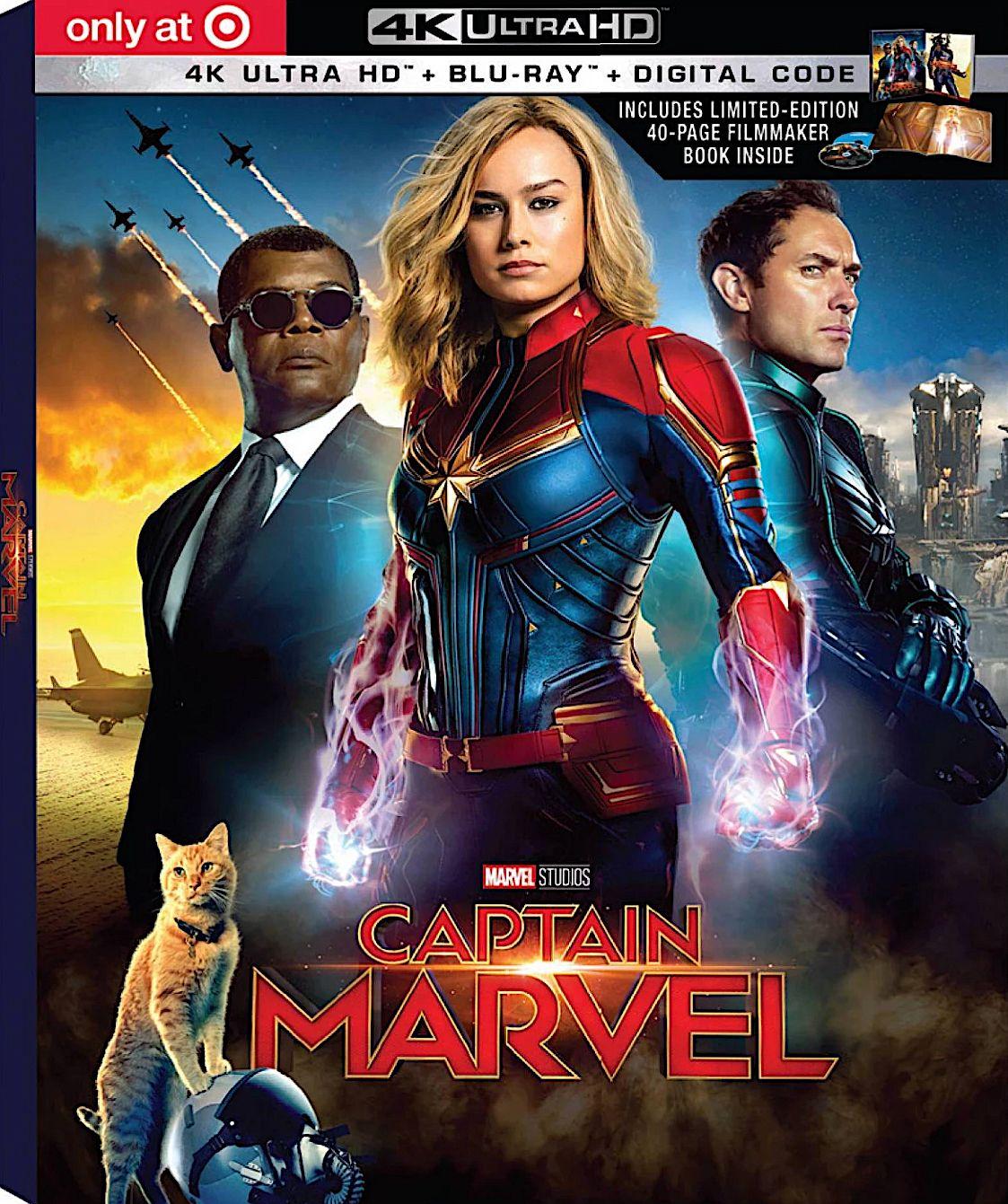 Captain Marvel Target Exclusive Limited Edition 4k Blu Ray Book Disney Captain Marvel Marvel Marvel 4k