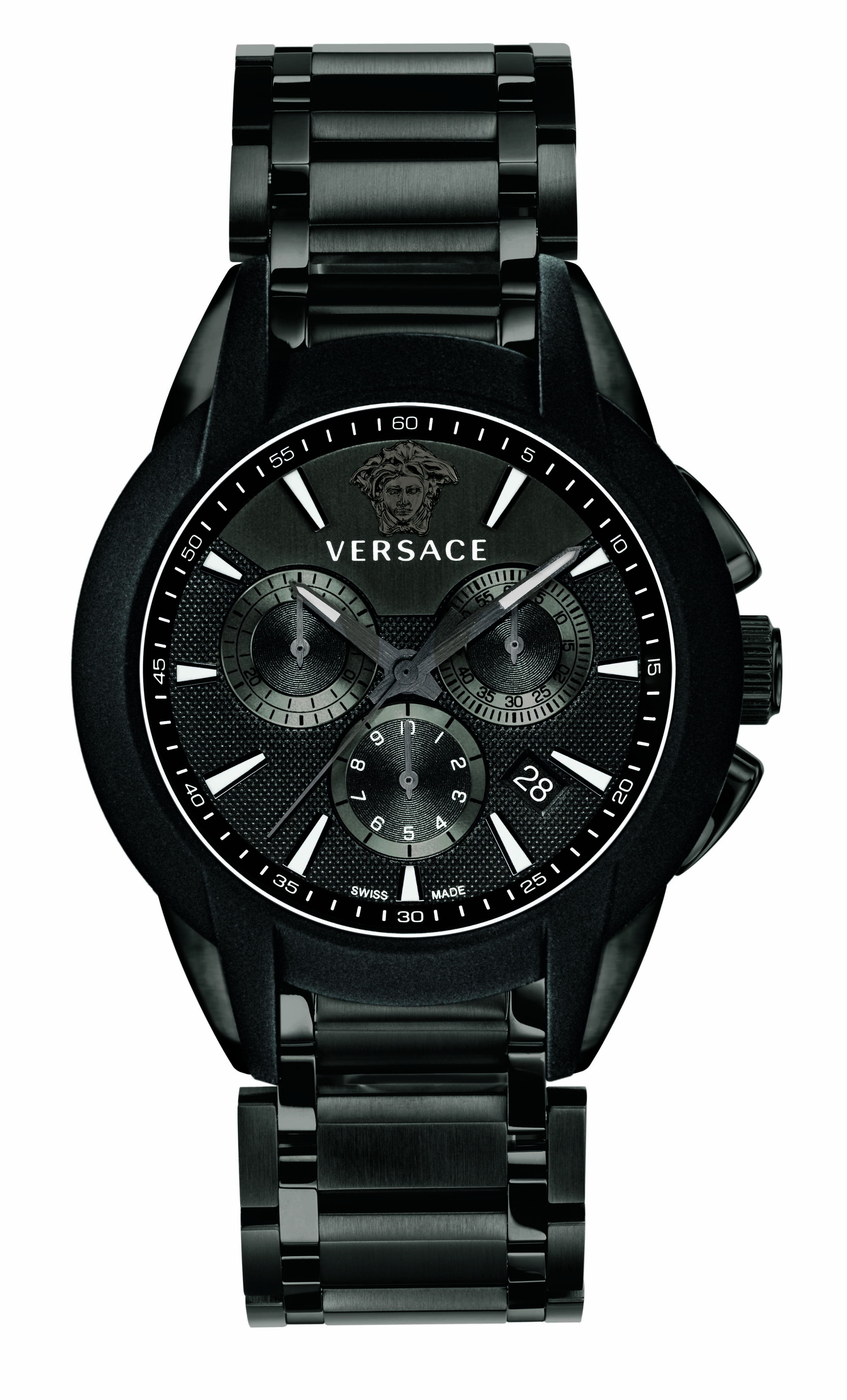 The versace black character chrono quartz watch versacewatches