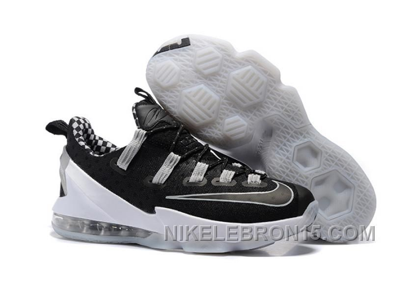 promo code 10b3c 89344 Nike Lebron 13 Low Black White Gray Lastest | bedroom ideas ...