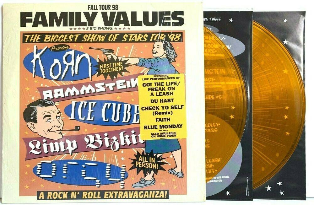 Family Values Tour Fall 1998 In Shrink Translucent Orange Lp Vinyl Record Album In 2020 Vinyl Record Album Vinyl Records Record Album