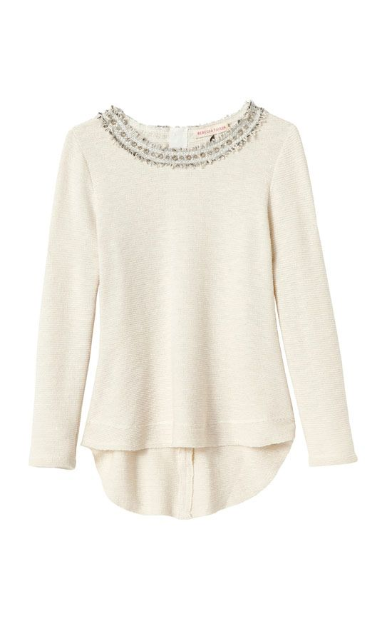 Rebecca Taylor embellished tweed top.