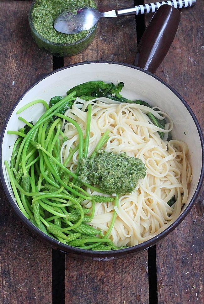 Délices d'Orient: Paste Spinat, Spargel und Rucola-Pesto