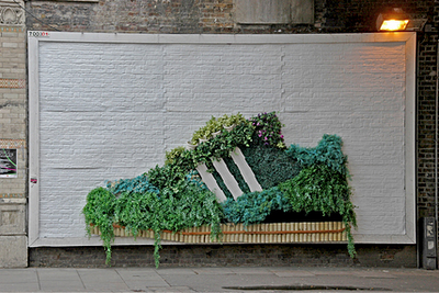 this Adidas shoe ad is made from Guerilla Gardening. It is