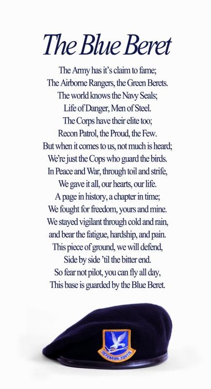 the blue beret poem - Google Search | Air Force | Air ...