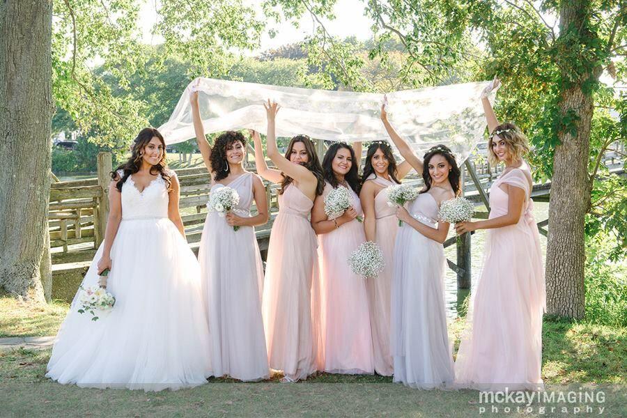 Whimsical NJ wedding Bridesmaid dresses -