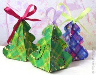 Aprende cómo hacer cajitas navideñas con un solo molde ~ Belleza y Peinados