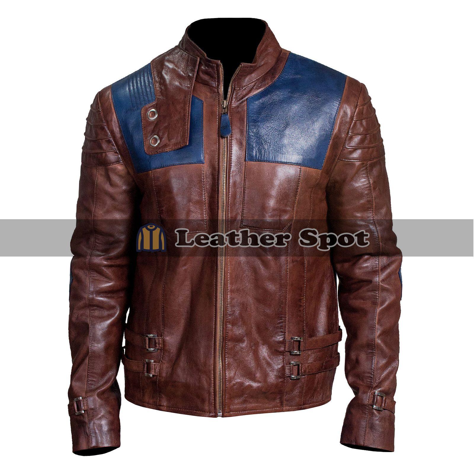 Superman Krypton Smallville Biker Brown Leather jacket