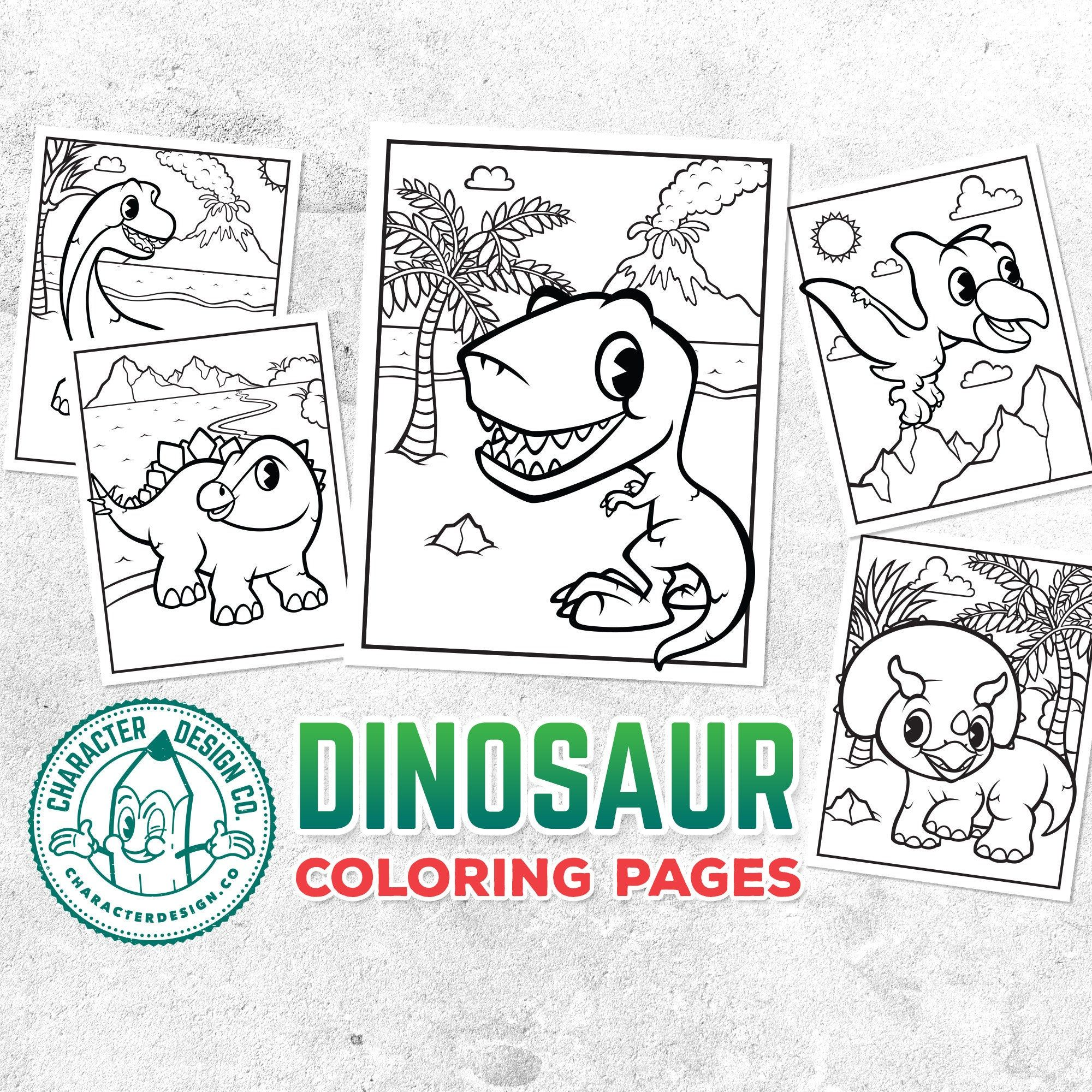 Dinosaur Coloring Pages 5X Printable Dinosaur Colouring