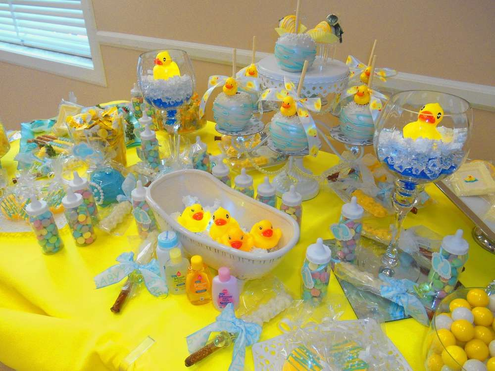 Adorable Rubber Ducky Baby Shower Party! See More Party Planning Ideas At  CatchMyParty.com.