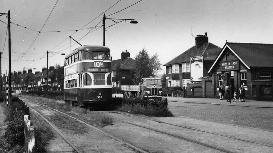 London underground Liverpool Trams Liner 950 on