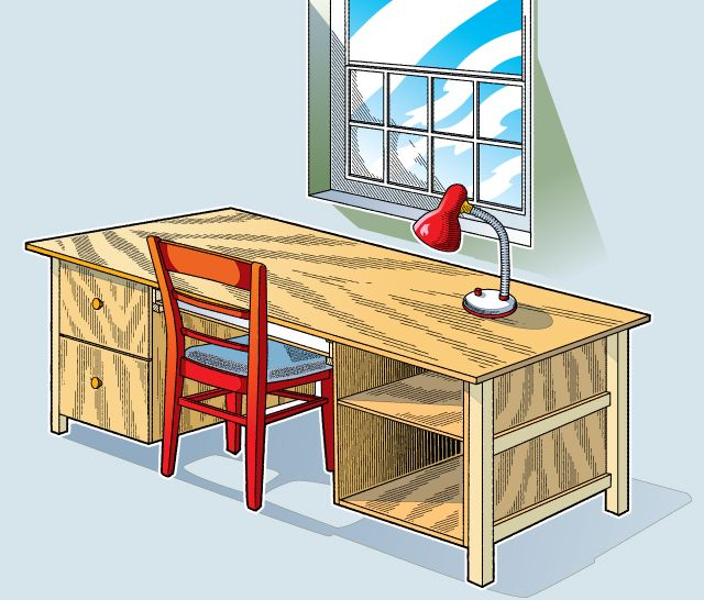 build a custom desk build your own desk with a tray for your computer keyboard shelves and. Black Bedroom Furniture Sets. Home Design Ideas
