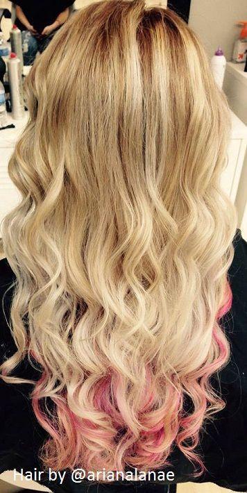 A Medium Blonde That Fades Into Platinum Blonde With Pink Peekaboos Underneath Hair By Arianalana Platinum Blonde Hair Pink Blonde Hair Dark Skin Blonde Hair